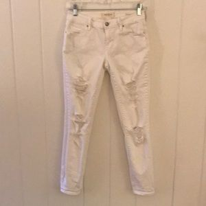 PacSun Low Rise Distressed White Jeans